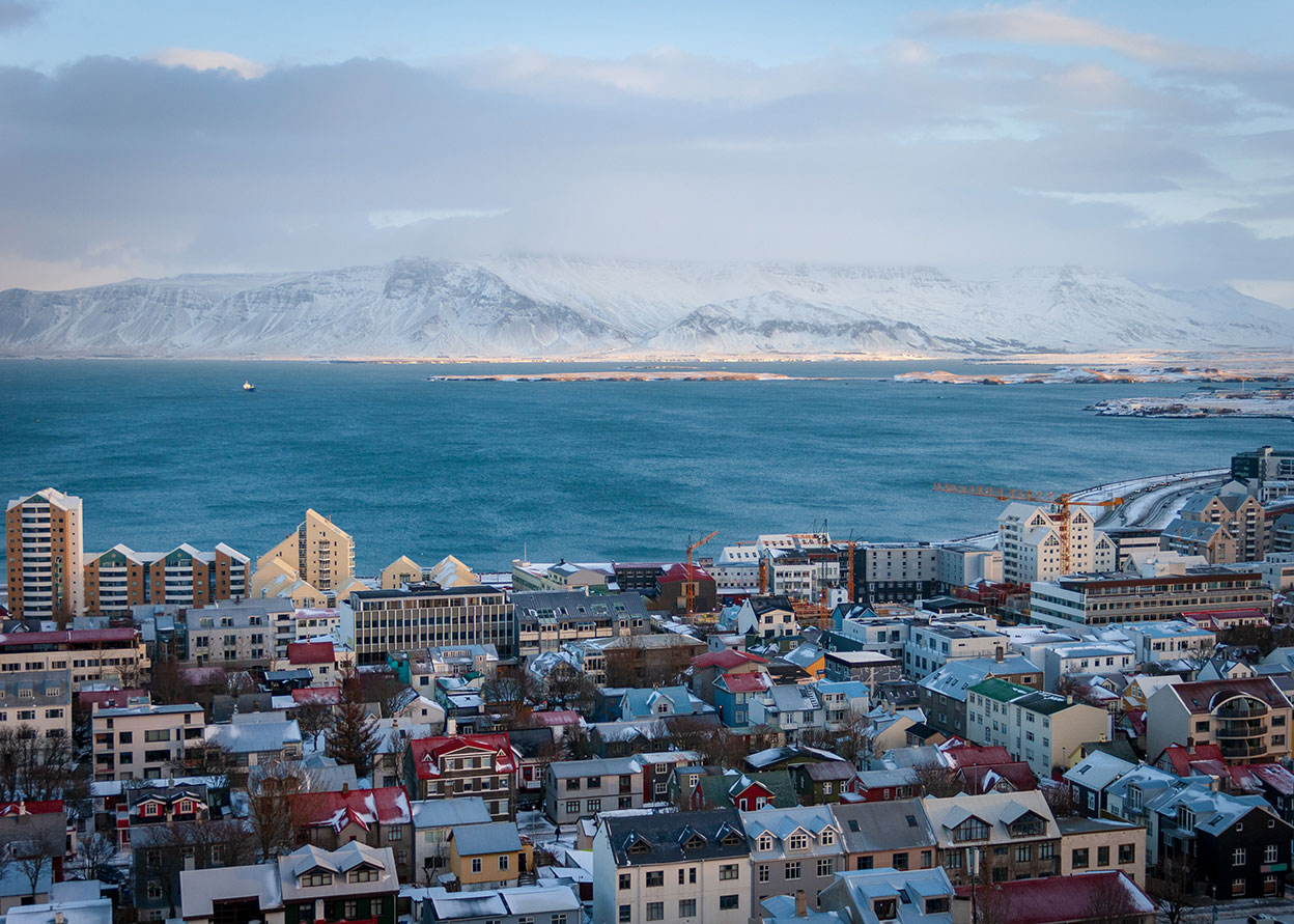 The colourful city of Reykjavik