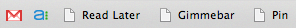 Bookmarklets by default in Chrome