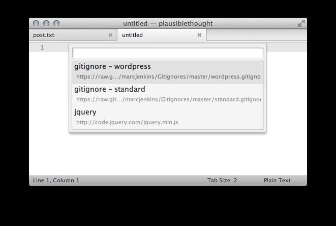 Sublime Text Fetch Plugin